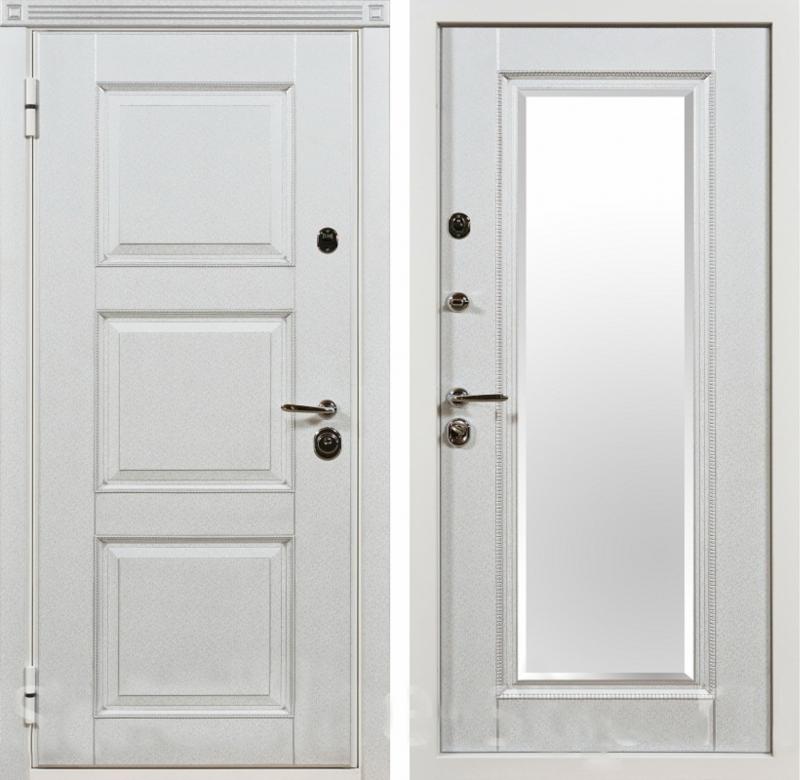 купить стальную дверь белую внутри